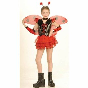 Lady Bug Child Costume Size 8-10 Medium