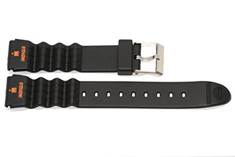 TIMEX TX470381 - Replacement Watch Strap [Black Resin]