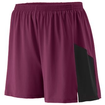 Sprint Short Adult - MAROON BLACK - LARGE