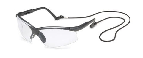 Gateway Safety 16GB79 Scorpion Adjustable Safety Glasses, Clear Anti-Fog Lens, Black Frame
