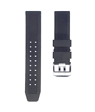 TIMEWHEEl 23mm Replacement Watch Band Double Prong Buckle for LUMINOX Navy Seal EVO Diver Watch