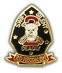 US Marine Corps 2nd Recon Battalion Lapel Pin