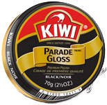 Kiwi Parade Gloss Shoe Polish - Black, 2.5 oz (Large)