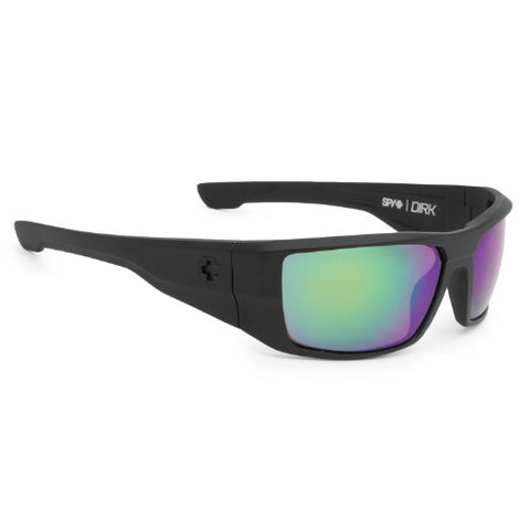 Spy Dirk Polarized (Matte Black/Happy Bronze/Green Spectra) Sunglasses