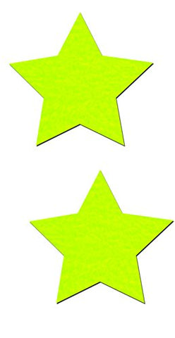 ROCKSTAR: NEON YELLOW DAY-GLOW STAR PASTIES
