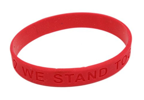 Red Ribbon Awareness Silicone Bracelet