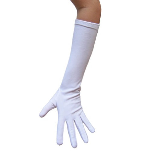 White Costume Gloves (Elbow Length) ~ Halloween Costume Accessories (STC12076)