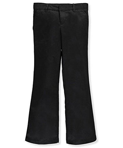 Adjustable Waist Drop Waist Flat Front Pants by French Toast - black, 12