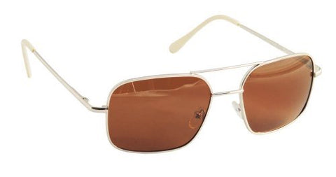 55mm Burn Notice Sunglasses with Polarized Cognac Lenses