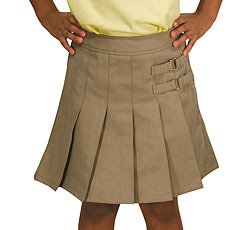 French Toast Uniforms Girls' Plus Size Scooter Skort (Black 10.5)