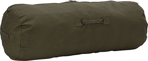 Army Universe Olive Drab Jumbo Side Zipper Canvas Duffle Bag (25  x 42 )
