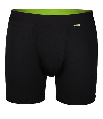 MyPakage Men's Weekday Boxer Brief (Black  Black  Lime, Large (34-36) )