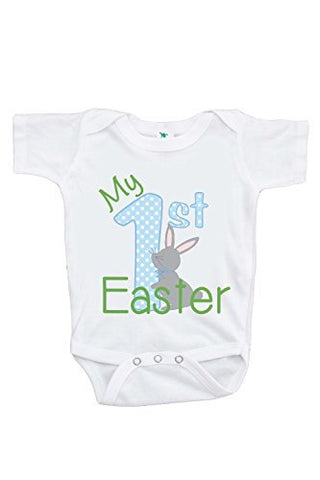 Custom Party Shop Unisex Baby's Novelty My First Easter Onepiece 6-12 Months Blue and Green