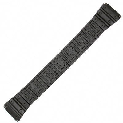 Speidel 18-22mm Black PVD Painted Metal Watch Band 6 3/8  Mens
