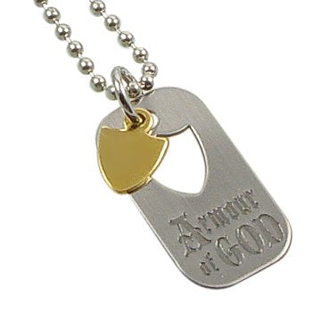 LDS Silver Finish Steel Armor of God Dog Tag Necklace on a 24  Ball Chain Necklace - LDS Necklaces, Primary Gifts - Chain Can Be Trimmed to Any Length