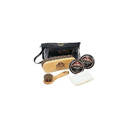Kiwi Military Black Shoe Shine Complete Care Kit