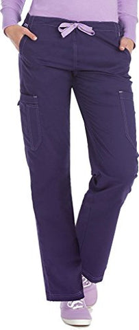 Med Couture Women's 'MC2' Layla Scrub Pant, Plum, Medium Petite
