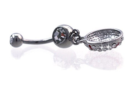 Baseball Charm Dangle Navel Belly Button Ring Body Piercing Jewelry