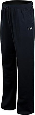 TYR 1WSTPM2AM Men's Alliance Warmup Pants, Black, Medium