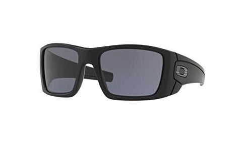 OAKLEY MENS FUEL CELL SUNGLASSES MILITARY STANDARD ISSUE MATTE BLACK FRAME GREY LENS TONAL US FLAG ICON