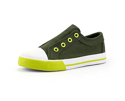 Youth 1 Kid's Shoes Sneaker Army Green Elastic Slip on Unisex