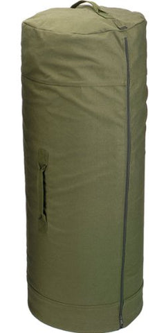 Army Universe Olive Drab Side Zipper Heavy Duty Military Canvas Duffle Bag  (30 x 50 1e11dfab553