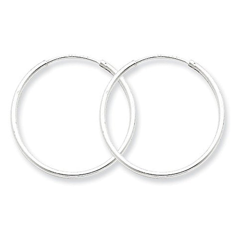 Sterling Silver Polished 25mm Endless Hoop Earrings