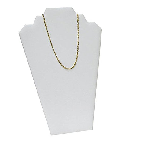 White Leatherette Necklace Easel Measures 8 1/4  x 12 1/2  tall