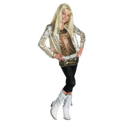 Hanna Montana Gold Outfit Halloween Costume - Child Size 7-8