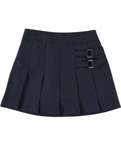 French Toast Girls Pleated Scooter (X9103) -NAVY -6