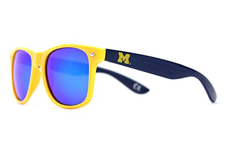 Society43 NCAA Sunglasses - Michigan Wolverines Maize Blue Wayfarer Style