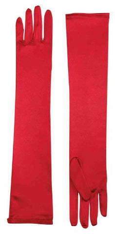 Forum Child Opera Satin Gloves, Red