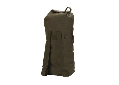 G.I. STYLE DOUBLE-STRAP Olive Drab DUFFLE BAG