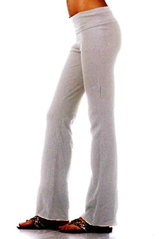 Active Basic Women's BASIC Yoga Pants (Medium, White)