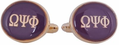 Omega Psi Phi Cufflinks Purple Gold Fraternity Greek Howard University Cuff Links