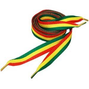 Rasta Colored Shoe Laces (Red, Yellow, Green)