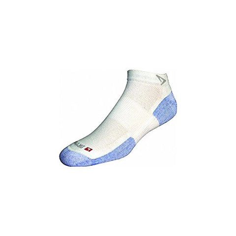 DryMax Hot Weather Run Mini Crew, White/Blue, W5-7 / M3.5-5.5,