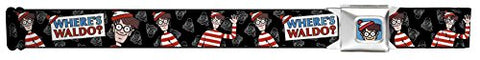 Waldo Poses/face Black/white/full Color Seatbelt Belt