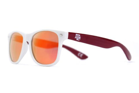 Society43 NCAA Throwbacks - Texas A&M Aggies White/Maroon Sunglasses