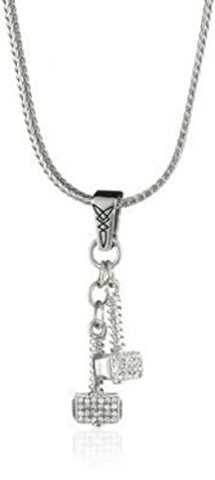 Marvel Comics Thor Dangle Crystal Hammer Superhero Hero Necklace