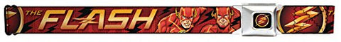 The Flash/logo3/poses Black/red/gold Seatbelt Belt