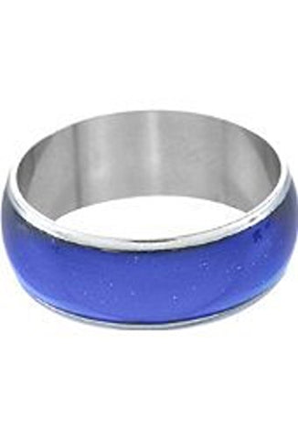 Unisex Color Changing Mood Finger Ring Size 6 w/Random Color and Design