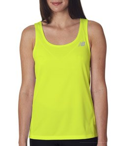 New Balance Womens' Tempo Running Singlet (Safety Green) (2X-Large)