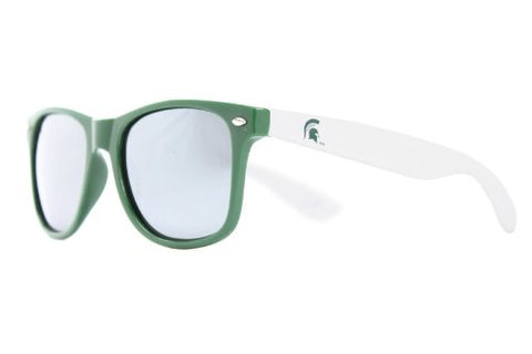 Society43 NCAA Throwbacks - Michigan State Spartans Green/White Sunglasses