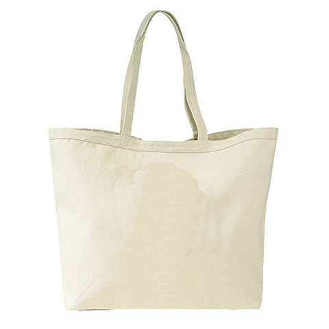 Giant Canvas Tote Bag (1, Natural)