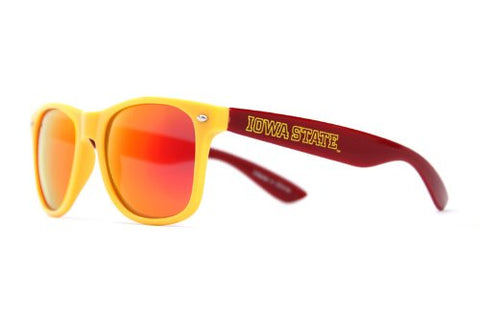 Society43 NCAA Sunglasses - Iowa State Cyclones Gold Cardinal Wayfarer Style
