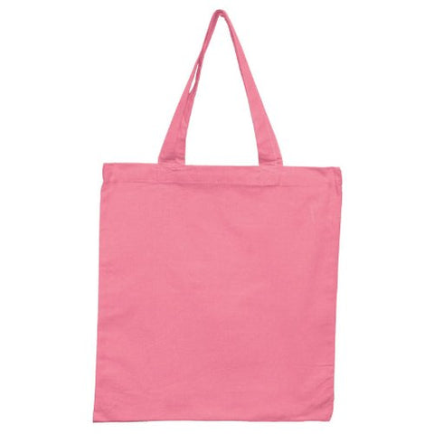 Canvas Economical Tote Bag (Pink)