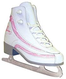 American Athletic Shoe Girl'S Soft Boot Ice Skates, White, 4