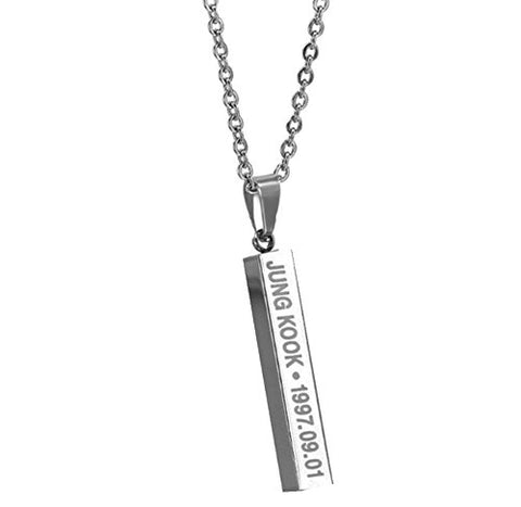 BTS KPOP JUNG-KOOK Pendant Bangtan Boys Merchandise Titanium Steel Necklace - By NationinFashion