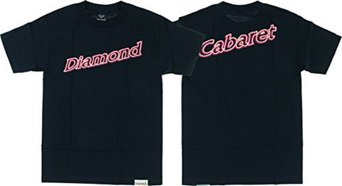 Diamond Neon Script Short Sleeve T-Shirt L-Navy